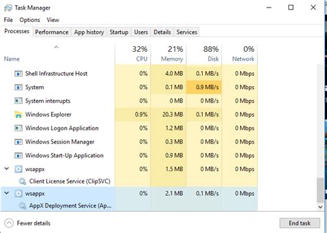 what is wsappx and why does it cause high disk and cpu usage in windows 10