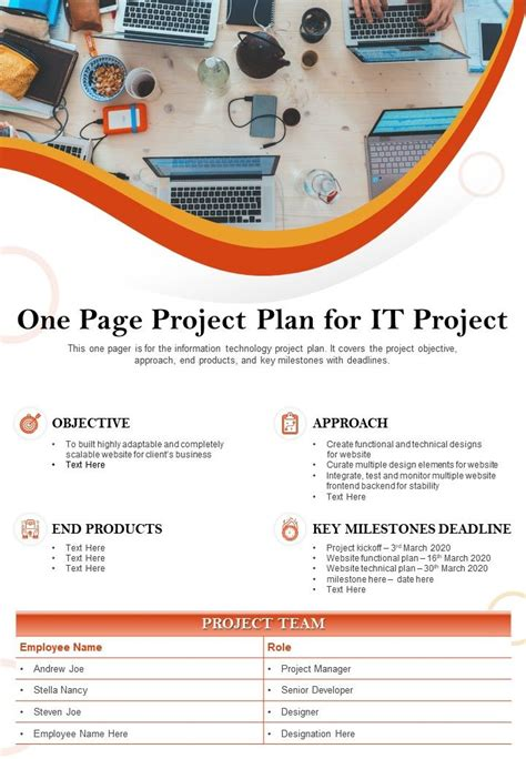 page project management templates