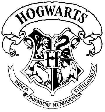 hogwarts alumni tshirt hogwarts crest stencil harry potter