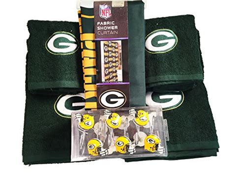 nfl green bay packers 6pc bathroom accessories set home