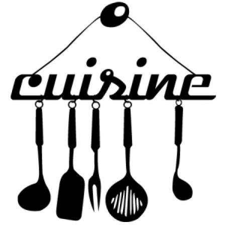 tableau ardoise cuisine stickers ustensile cuisine stickers malin