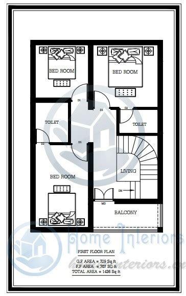sq ft double floor home plan  cent plot