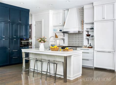 cool blue kitchen traditional home