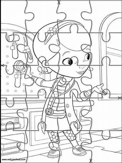 Colorare Dottoressa Peluche Mcstuffins Doc Puzzle Colorear