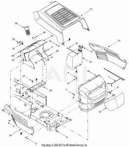 Mtd 13aj693g755  2004  Parts Diagram For Hood