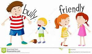 Bully Boy And Friendly Girl Stock Vector - Illustration of ...