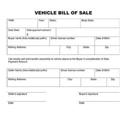 Bill Of Sale Template by Bill Of Sale Form Template Printable Calendar Templates