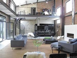 92 tres beau loft dans un style industriel grand salon With amazing meuble cuisine maison du monde 4 cuisine le bois sinvite dans la cuisine dans la deco ou
