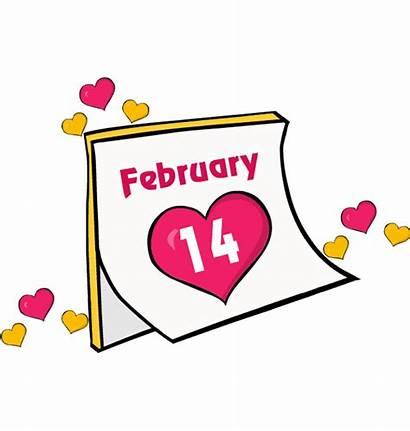 February Clip Clipart Calendar Valentines Valentine Feb