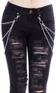 Silver metal jeans chains. 6 chains in total with clips. TAG YOUR PURCHASE #disturbiaclothing ...