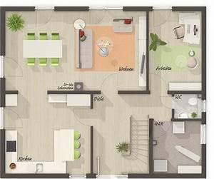 Haus Raumaufteilung Beispiele : grundriss erdgeschoss stadthaus flair 152 re ~ Lizthompson.info Haus und Dekorationen
