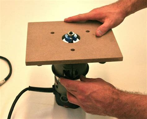 homemade router table  base plates