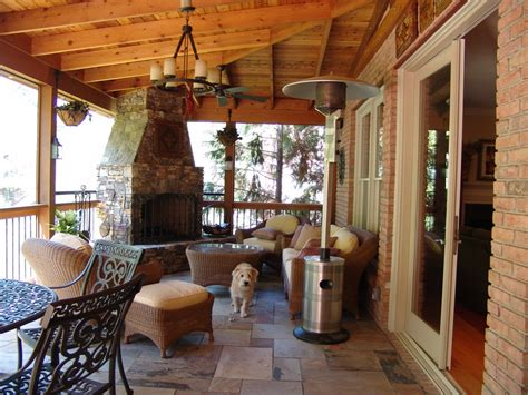 glamorous propane patio heater in porch traditional with