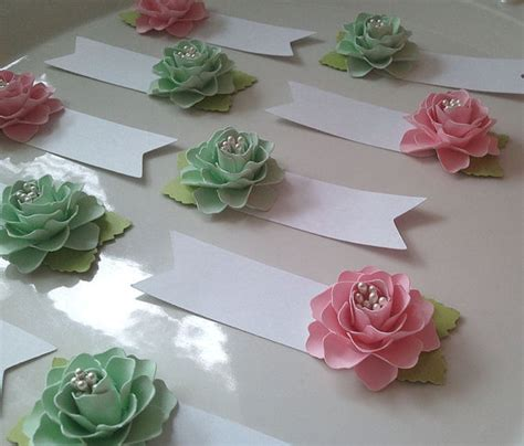paper centerpieces for tables place cards escort cards paper flowers weddings table