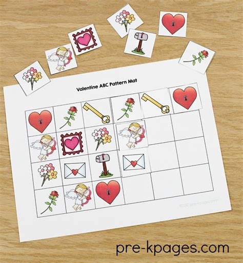 valentines day theme activities for preschool 741 | Printable Valentine Patterning Activity for Preschool