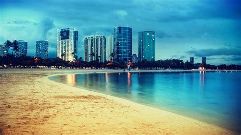 miami miami beach lights reflection wallpapers hd