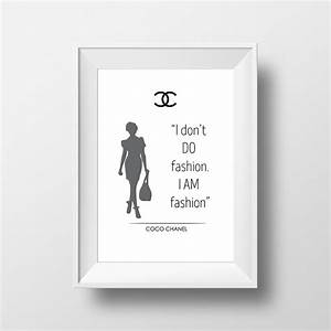 Coco chanel poster quote i dont't do fashion, i am