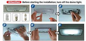 How To Install The Led Panel Light For Car Interior Map Or