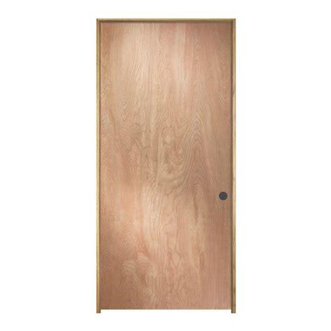 home depot interior doors wood jeld wen 28 in x 80 in birch unfinished left hand flush wood single prehung interior door