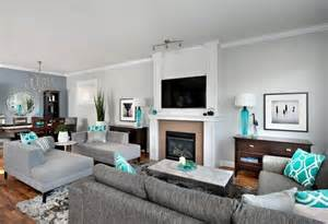 Turquoise and Brown Living Room Ideas