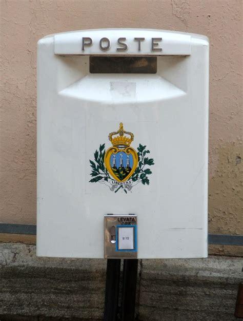 cassetta postale poste italiane poste san marino