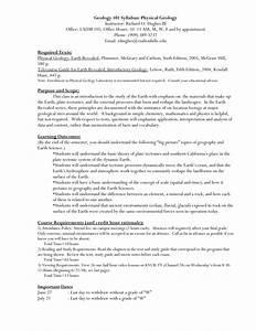 Geology 101 Syllabus  Physical Geology Instructor  Richard O