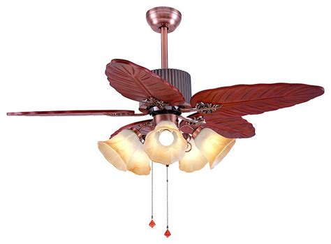 5 palm leaf ceiling fan blades modern ceiling fan with 5 palm leaf wooden blades
