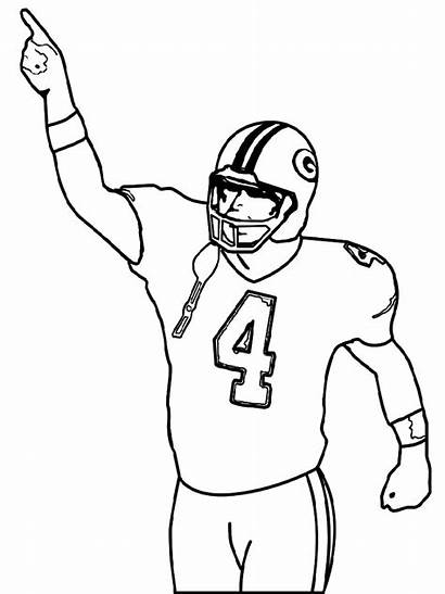 Coloring Football Pages Player Soccer Jersey Blank