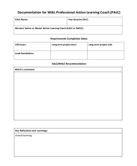 study record templates   printable   xls