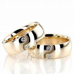 hh dw101247 18k gold yin yang diamond wedding ring set With yin yang wedding rings