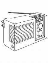 Radio Coloring Template sketch template