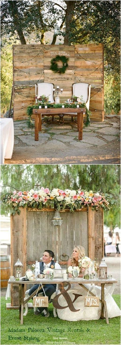 top  rustic country wedding sweetheart table ideas