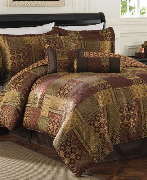 medici 7 piece queen jacquard comforter set shopstyle co