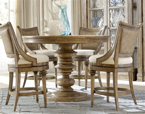 Pavilion Extendable Round Adjustable Height Dining Table