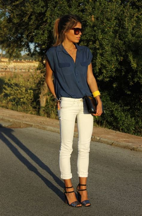 How To Wear White Jeans (Outfit Ideas) 2018 | FashionTasty.com