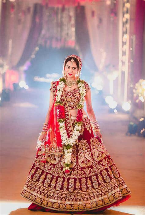 beautiful red lehengas   bride youll fall  love