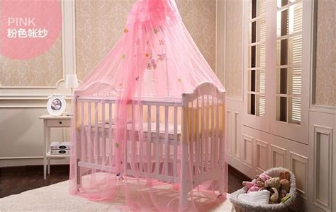 Yellow White Pink Color Baby Infant Kids Bed Net Baby Crib