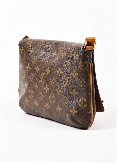 louis vuitton brown tan coated canvas leather monogram