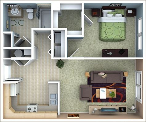 One Bedroom Apartment Layout Ideas by Best 25 Apartment Floor Plans Ideas On