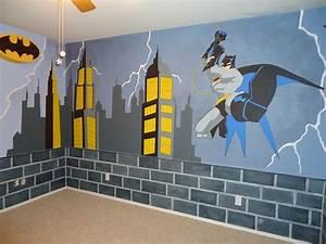Hand Crafted Batman Mural by Kid Murals by Dana ...