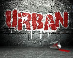 Graffiti wall with urban, street background — Stock Photo ...