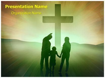 christianity christian family powerpoint template