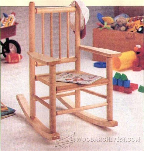childs rocking chair plans woodarchivist