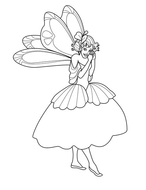 Free Printable Fairies Coloring Page