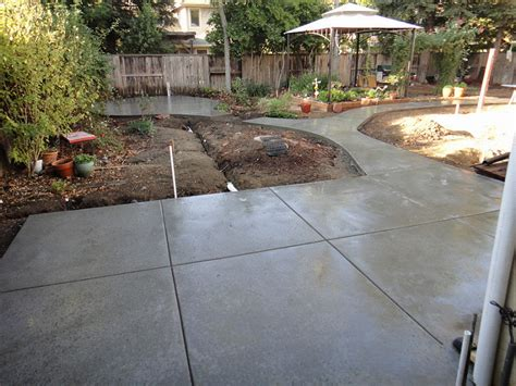 salt finish patio walkway and gazebo slab in davis