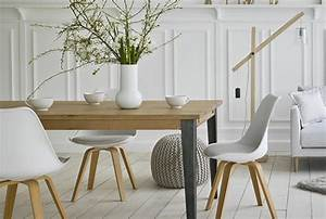 Tendance decoration style scandinave for Deco cuisine avec chaise de salon blanche
