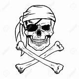 Skull Crossbones Drawing Pirate Jolly Roger Getdrawings sketch template
