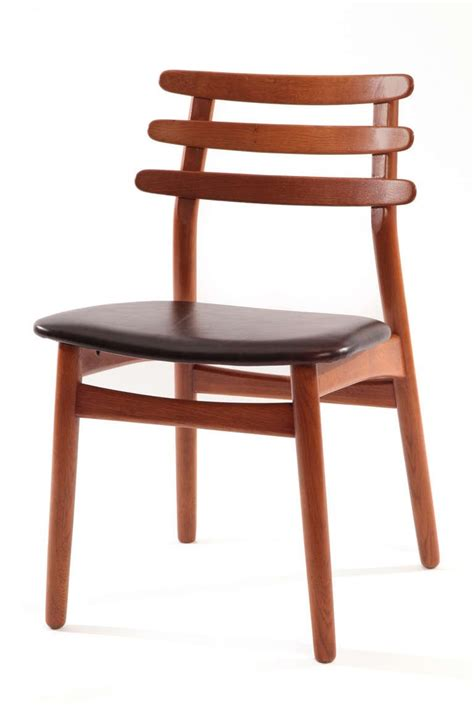 ten poul volther oak and leather dining chairs at 1stdibs