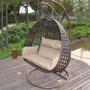 poly rattan hangesessel hangekorb hangestuhl hangeschaukel With französischer balkon mit garten hängeschaukel