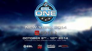 ESL One New York Features 100000 In Cash Prize
